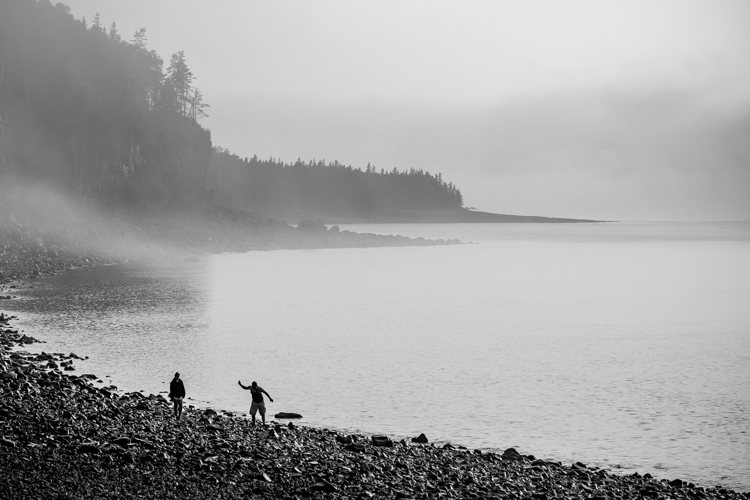 Skipping stones at Hall's Harbour - How to Photograph Your Family Vacation