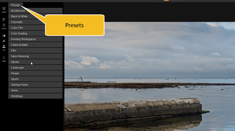 Image: ON1 Photo RAW comes with a series of presets.