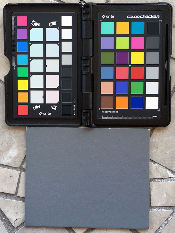 Color of Light Color Checker Gray Card