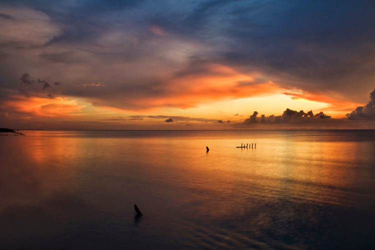 Tips for Using Color in Your Photography - sunset on the water