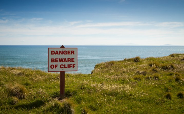 danger sign cliff warning - 9 Ways to Create Balance in Your Photography
