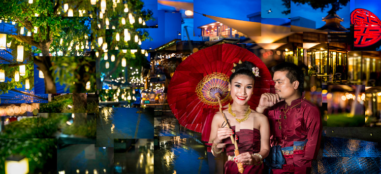 Young Thai couple pose for a photo montage in Chiang Mai, Thailand. - How to Find Inspiration for Your Photography