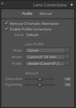 How to Edit Food Photography Images Using Lightroom - lens corrections panel in LR