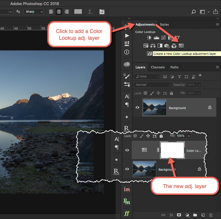 Add LUT adjustment layer - How to Create Your Own Style by Using LUTs in Photoshop