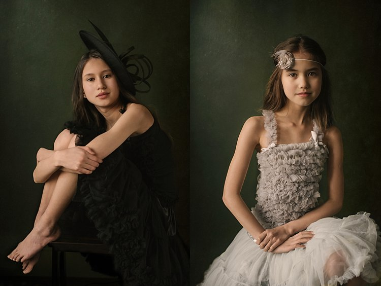 two different portraits of girls - 5 Tips How to Set Up a Home Studio for Dramatic Portraits