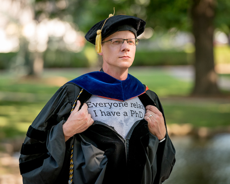 Why You Need to Manage Expectations - Both Yours and Your Client's - graduation photo PhD