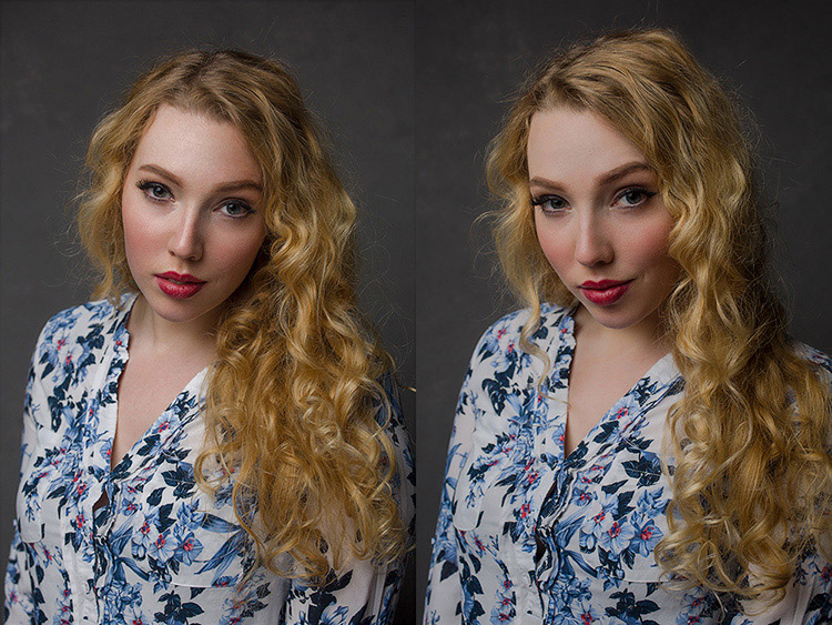 two images of a lady - How to Mimic Window Light in a Studio Environment