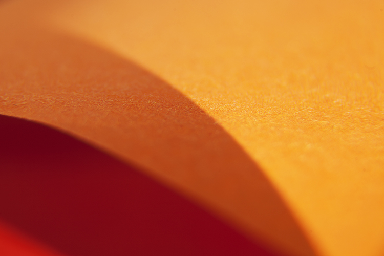 Creating Abstract Photos with Colored Paper - orange and red abstract image