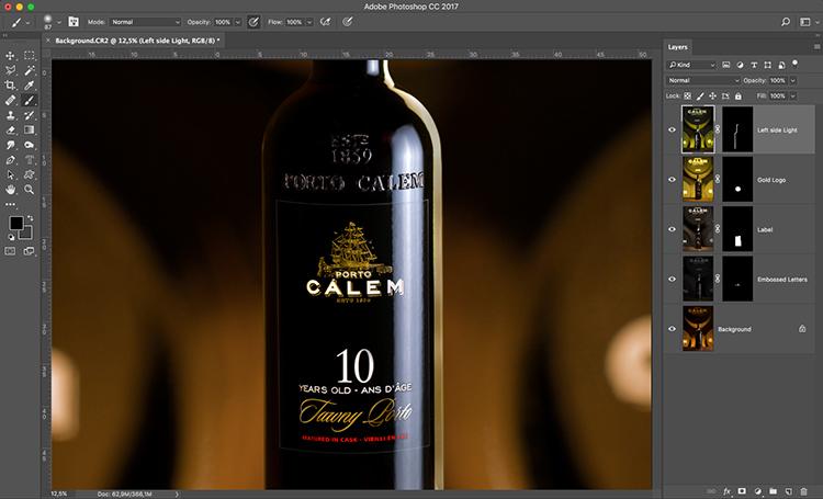 Photograph wine bottle composite 07