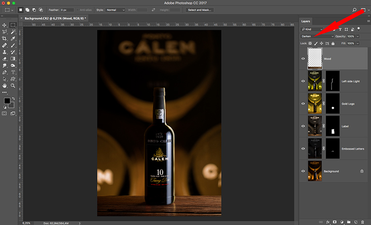 Photograph wine bottle composite 11