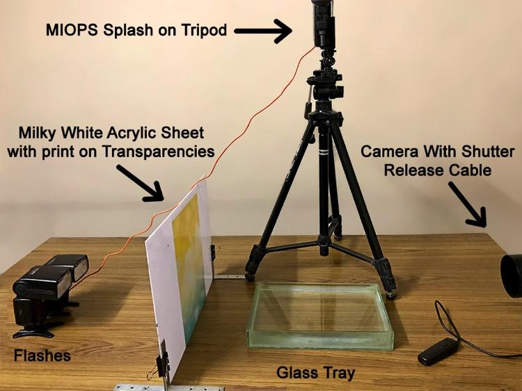 Water droplet splash Setup 01