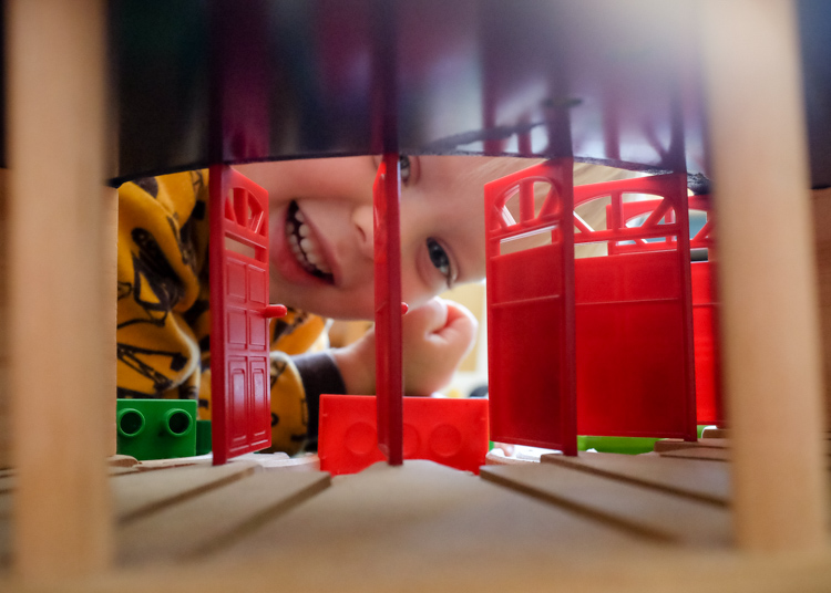 Image: For a totally different perspective try looking through toys to take the picture.