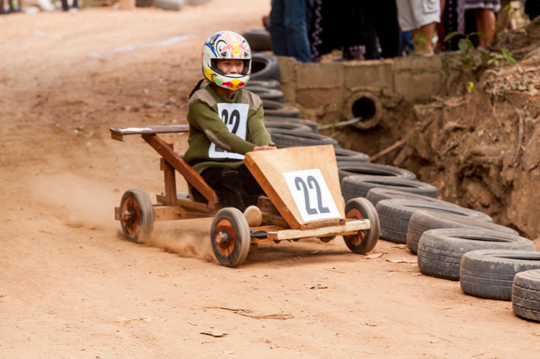 Hmong New Year kart racing - Action Photos