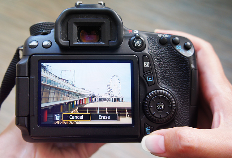 Chimping Tutorial Intro - Pros and Cons of Chimping - photo of a DSLR camera screen