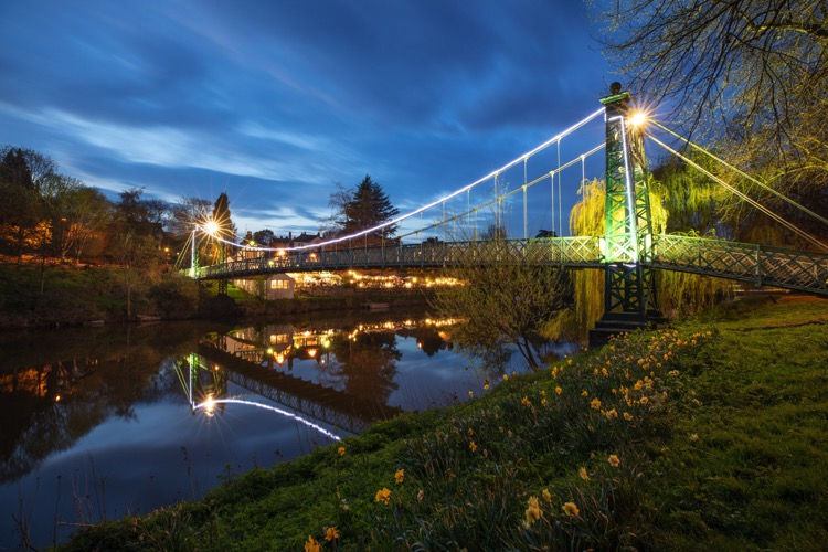 6 Ways to Improve your Cityscape Photography - blue hour bridge