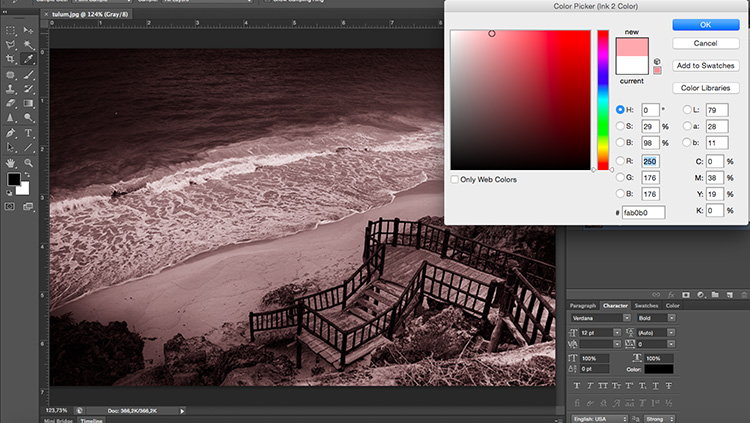 Duotone Color Picker Tonal Effects Photoshop Tutorial