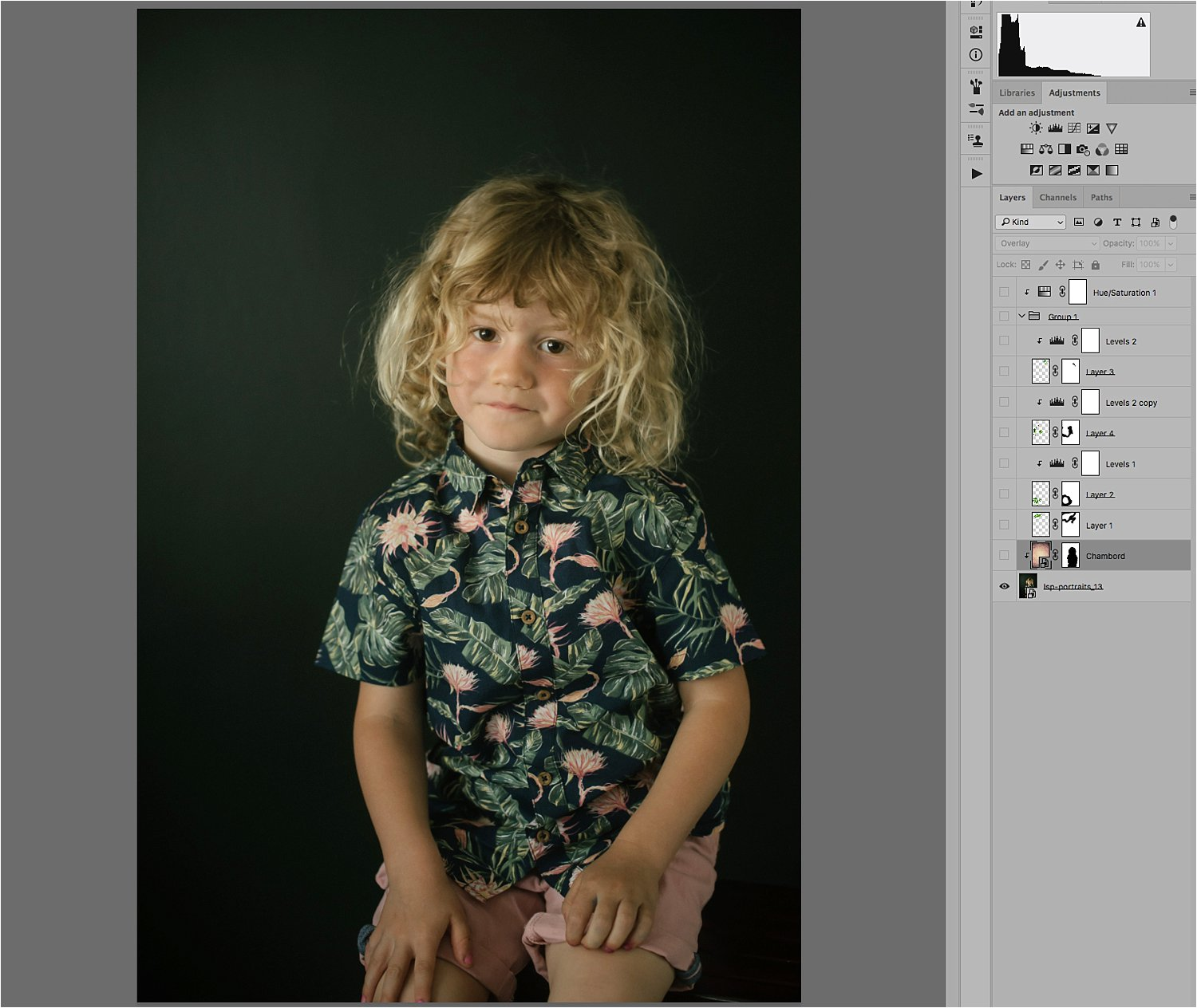 file and layers in Photoshop - Basic Photoshop Tutorial - How to Add a Texture Overlay to Your Portraits