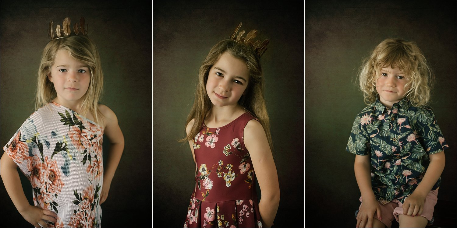 3 girls portraits with texture overlay - Basic Photoshop Tutorial - How to Add Creative Overlays to Your Portraits
