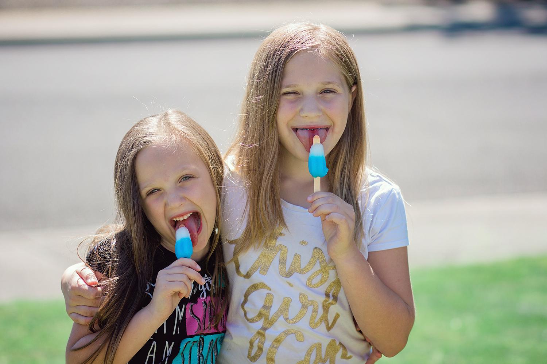kids eating popsicles - 3 Tips For Photographing Kids in Harsh Light