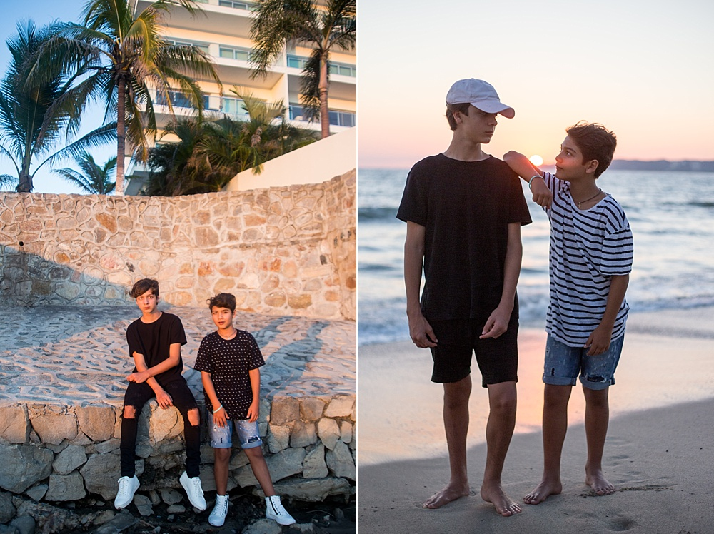 Portraits with tweens and teens brothers - How to Survive Portrait Sessions with Difficult Children
