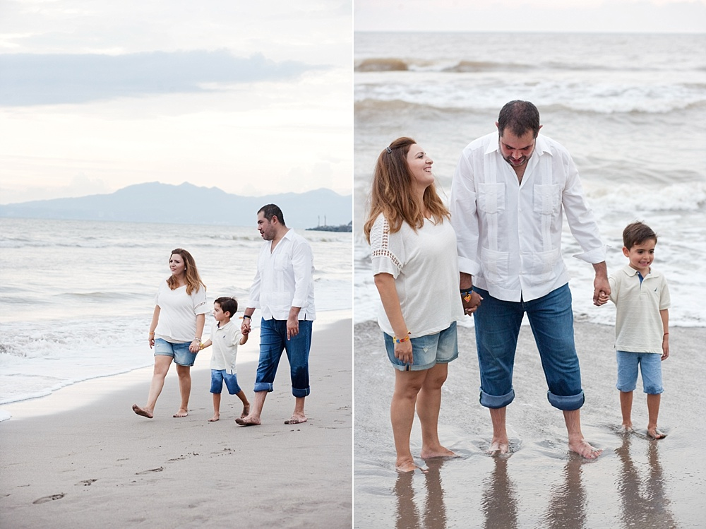 How to Survive Portrait Sessions with Difficult Children - family on the beach