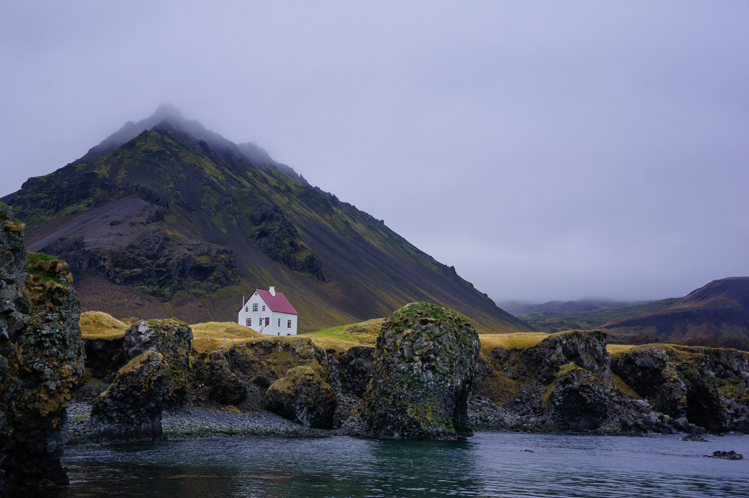 White House in Arnarstapi Harbor, Iceland - Beginner's Guide to Natural Light in Landscape Photography
