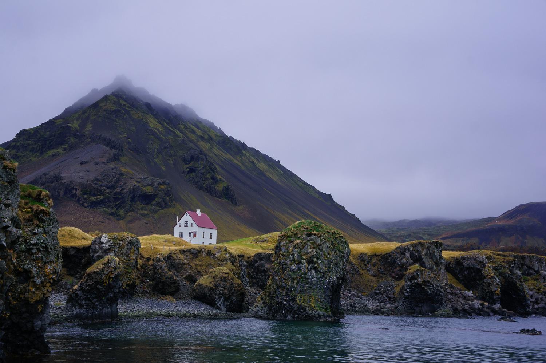 White House in Arnarstapi Harbor, Iceland - Beginner's Guide to Natural Light in Landscape Photography