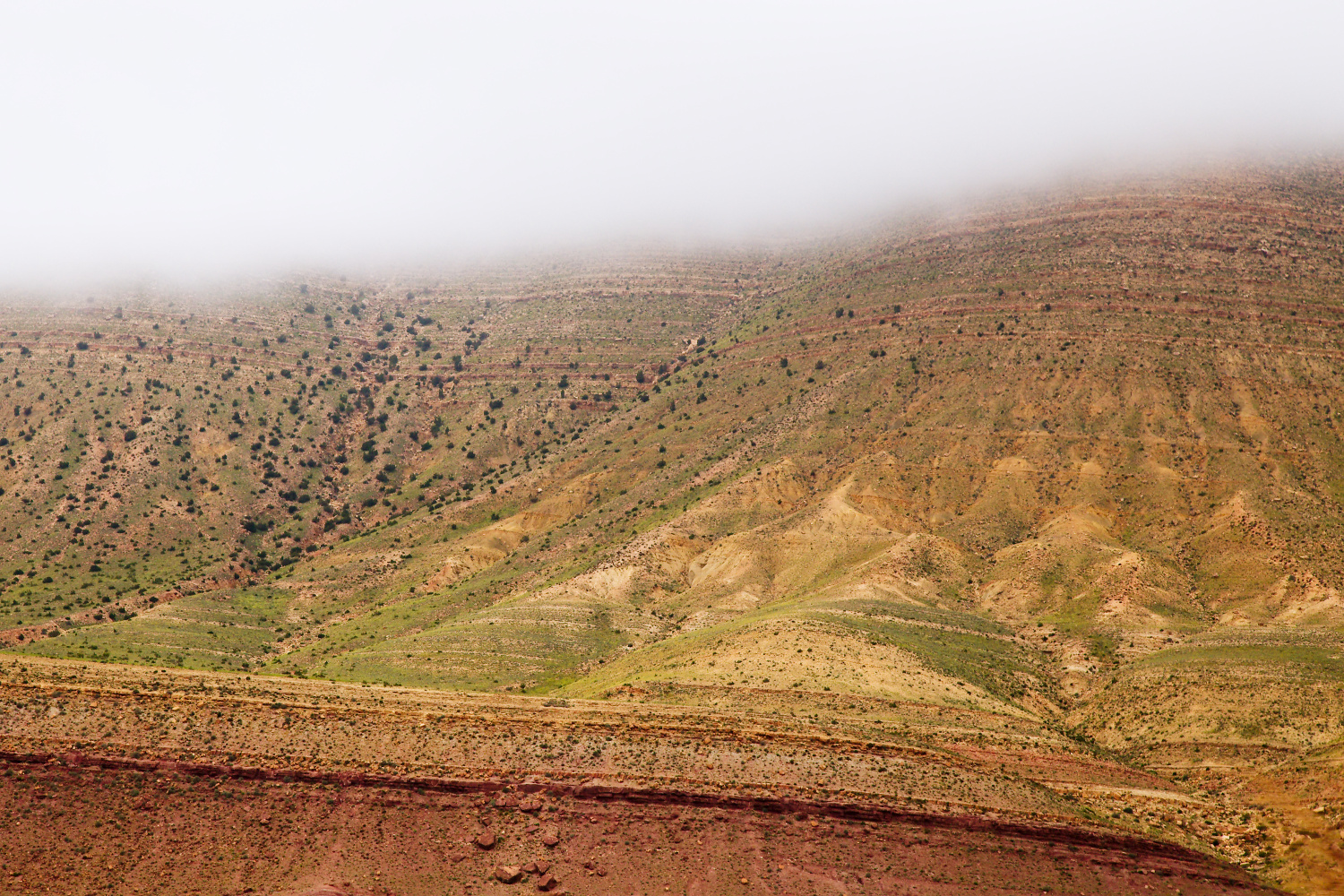 Geological features photographed from a highway in the Atlas mountains of Morocco. Tips for Taking Better Pictures from a Moving Vehicle