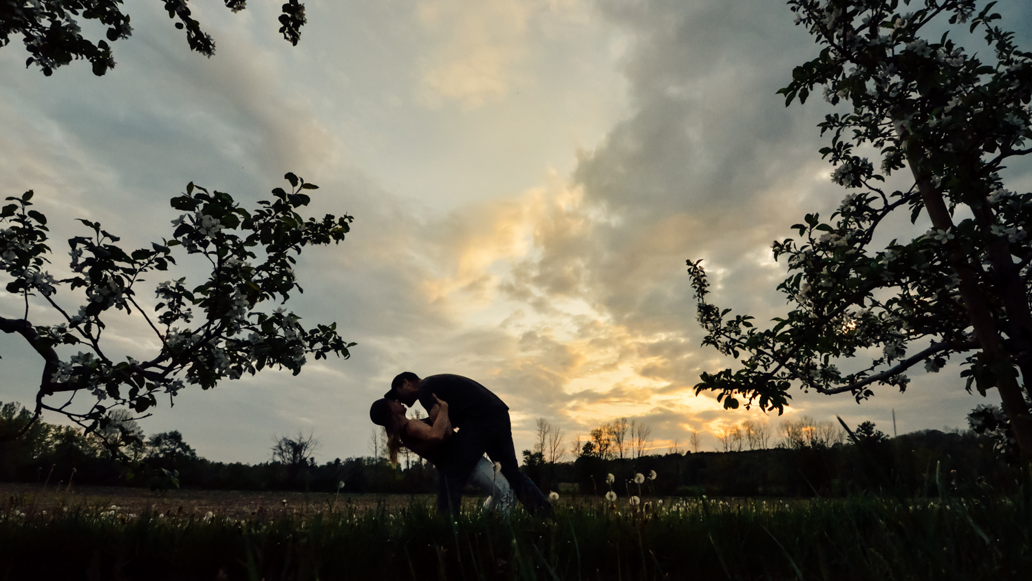 Silhouette photo of a couple. Fun Ways to Photograph Couples That are a Bit Awkward