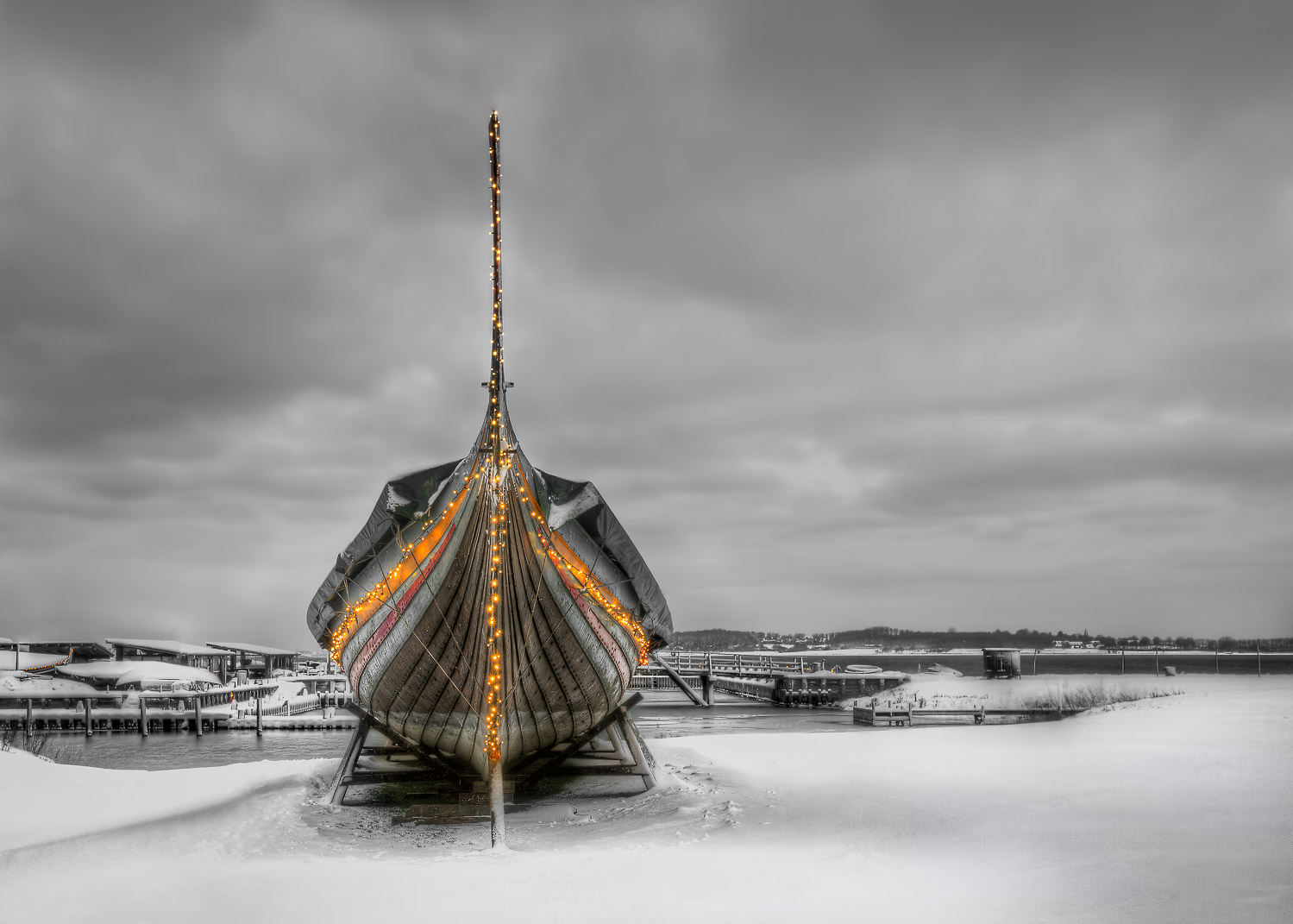 Learn How to Use the Strength of Selective Color - old ship in Denmark