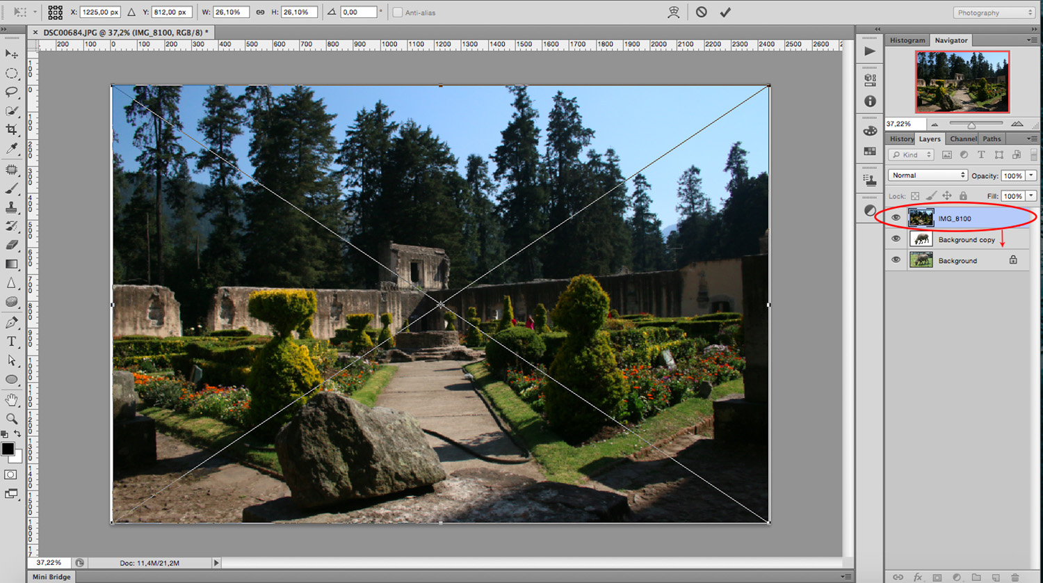 layer order - How to Create a Multiple Exposure Effect in Photoshop