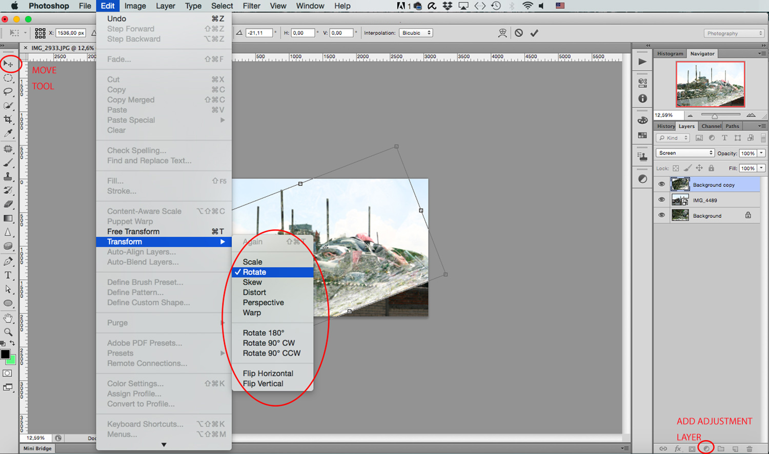 transform - How to Create a Multiple Exposure Effect in Photoshop