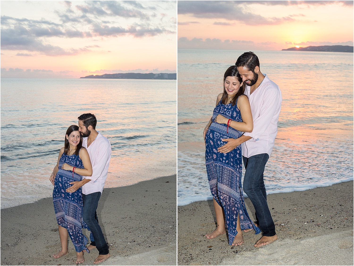maternity photo on the beach - Using Flash for Beach Portraits