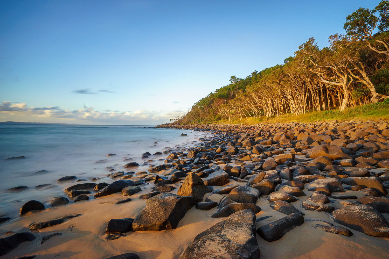 How to Work a Location to Get More Great Photos- photo of a rocky coast and trees
