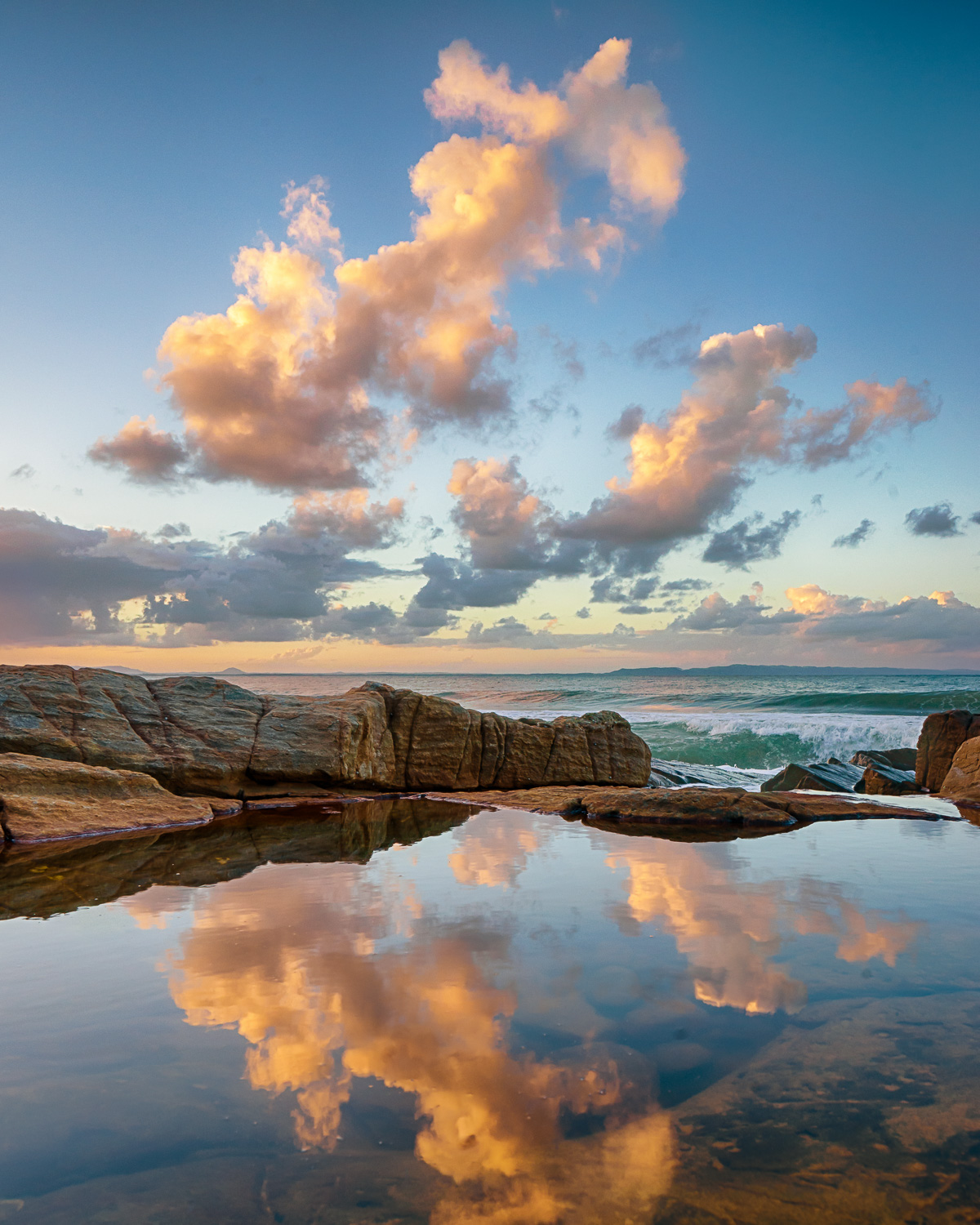 How to Work a Location to Get More Great Photos - sunset and reflection in water