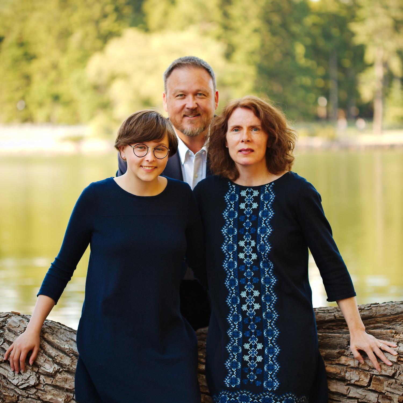 On-location family portrait.