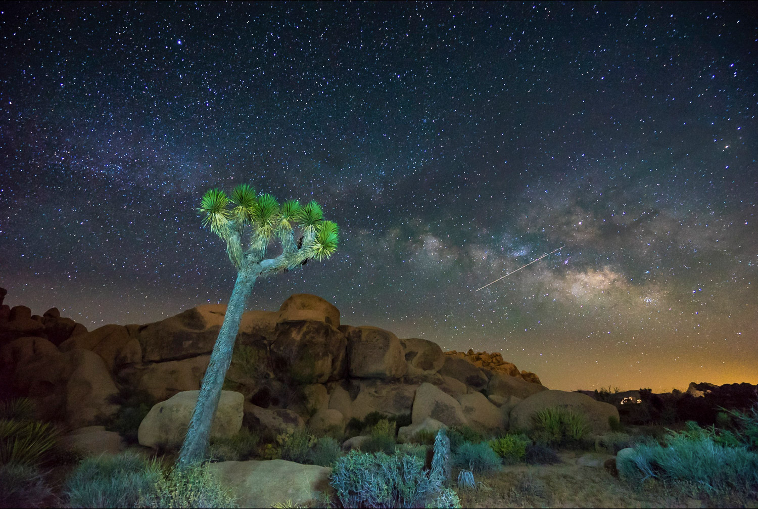 joshua tree astrophotography light painting