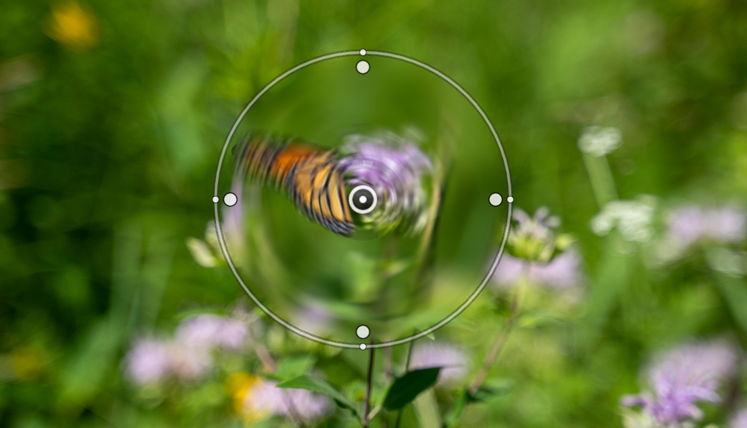 spin blur adjustment points - How to simulate a Swirly Bokeh in Photoshop