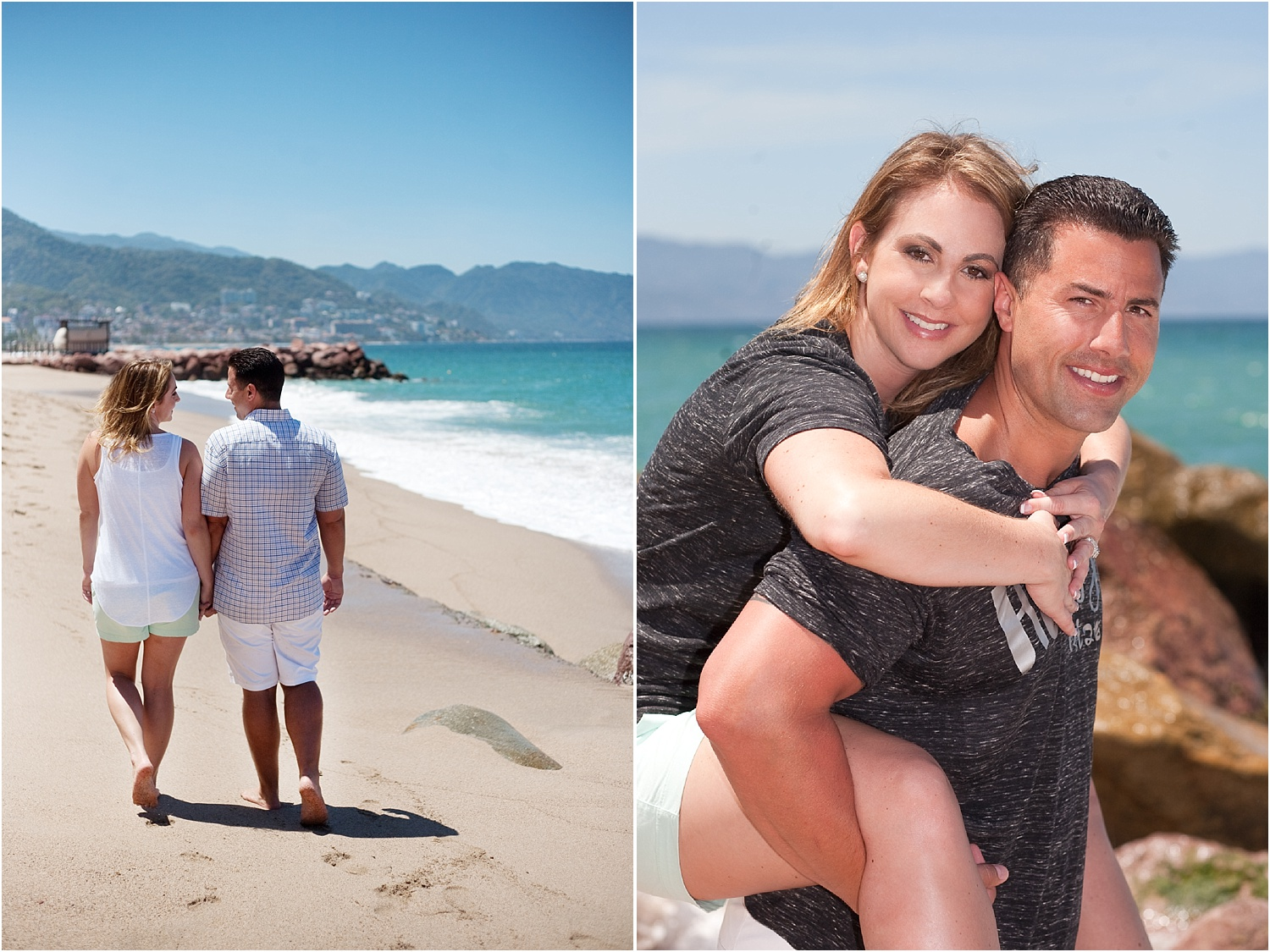 couple on the beach - How to do Portrait photography in Bright Midday Sun.