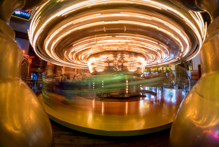 Image: Long exposures on moving subjects like this carousel can turn out great.