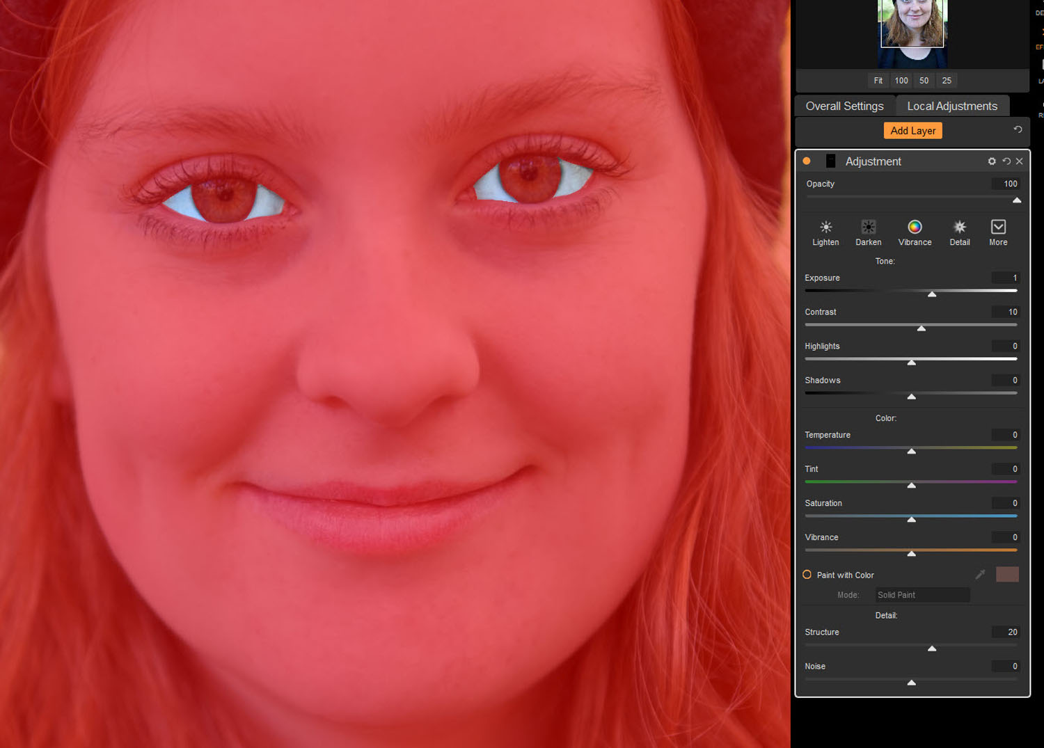 Tips for Portrait Processing with ON1 Photo RAW 2018 - masked eyes