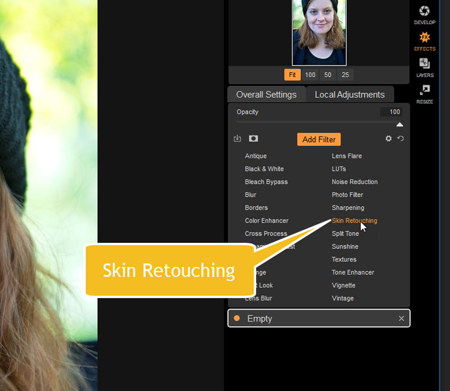 Tips for Portrait Processing with ON1 Photo RAW 2018 - skin retouching filter