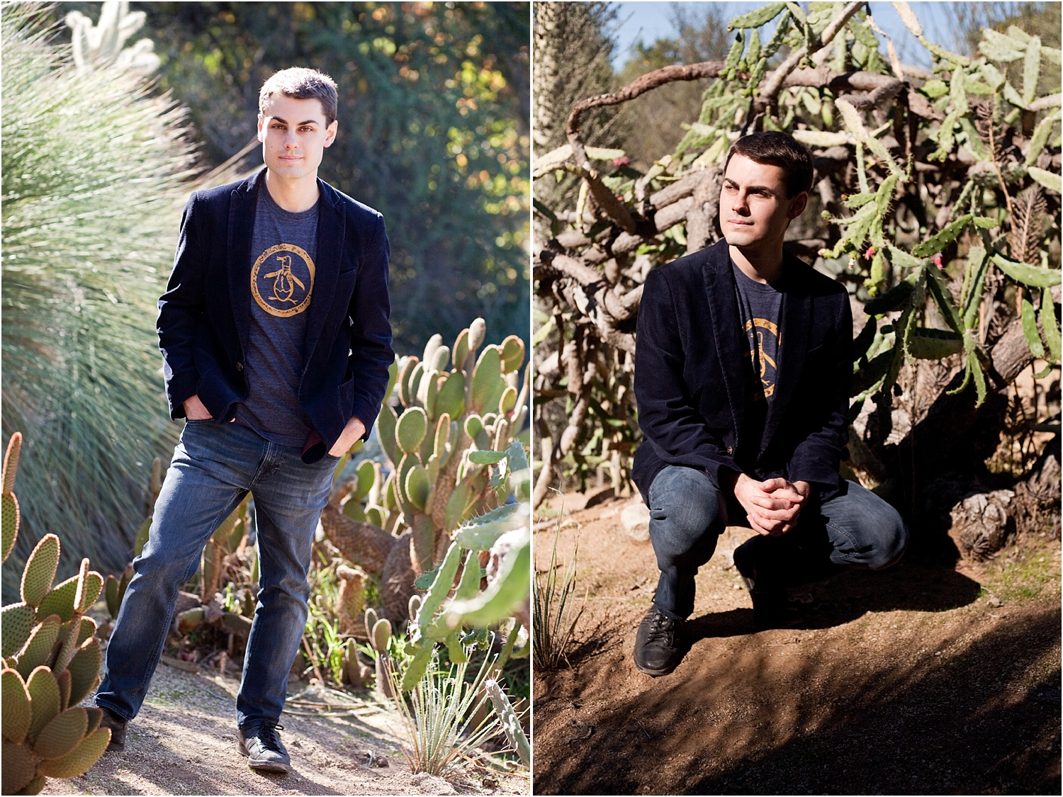 2 portraits of a man - How to do Portrait Photography in Bright Midday Sun