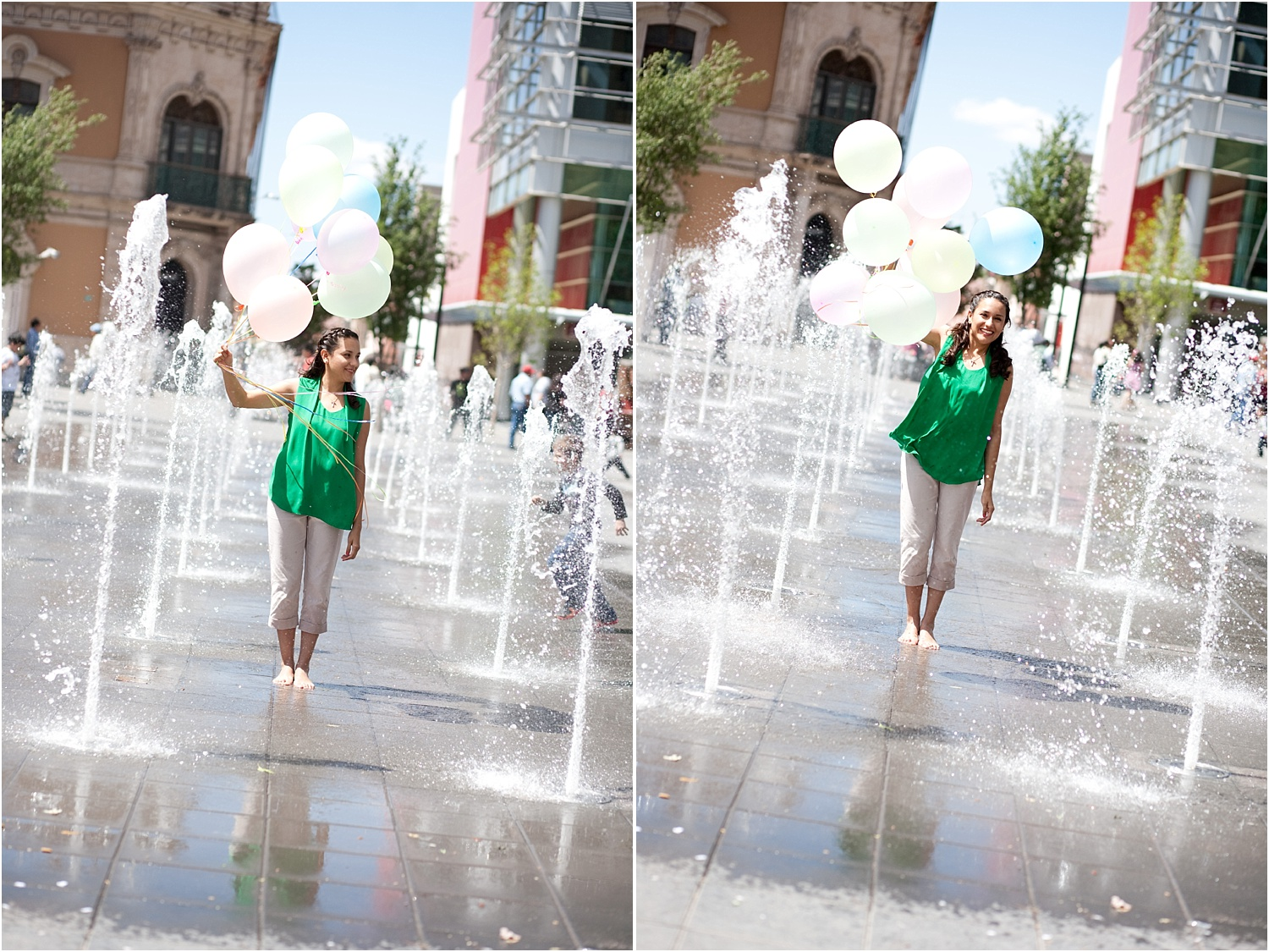 How to do Portrait Photography in Bright Midday Sun - girl with balloons
