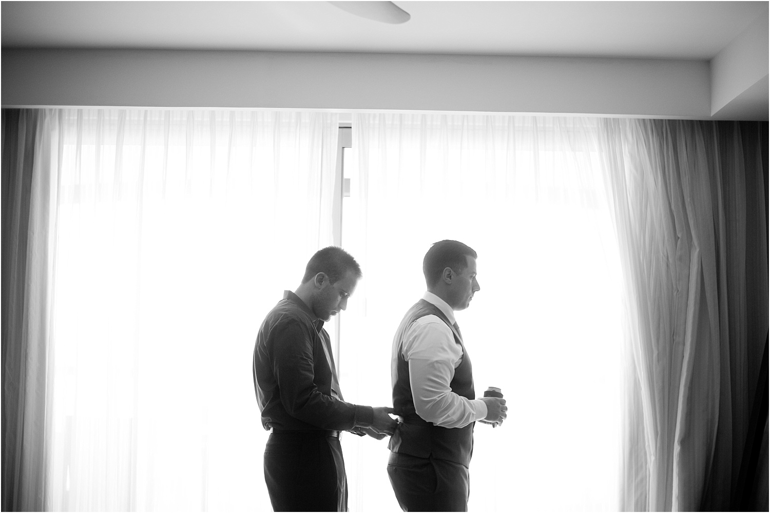 wedding day photography - groom getting ready