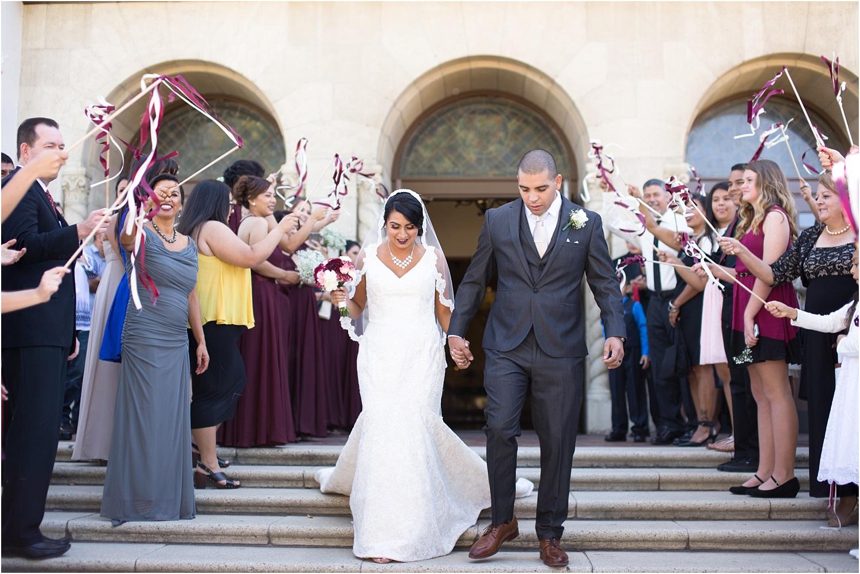 wedding couple leaving the church - wedding day photography