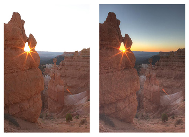 Sunrise before and after - Making the Best Use of HDR in Landscape Photography