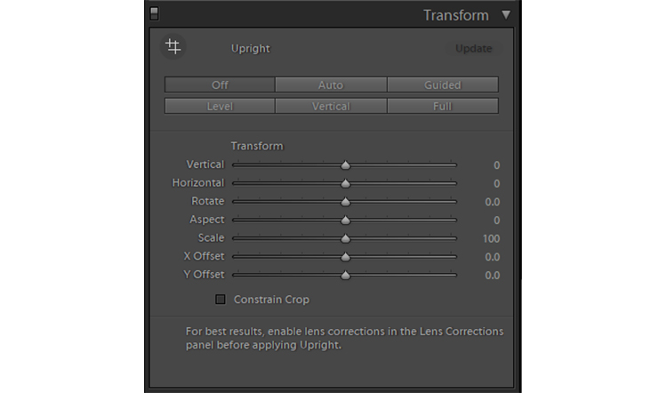 Image: Lightroom's Transform panel lets you cure a variety of distortions. The most common adj...