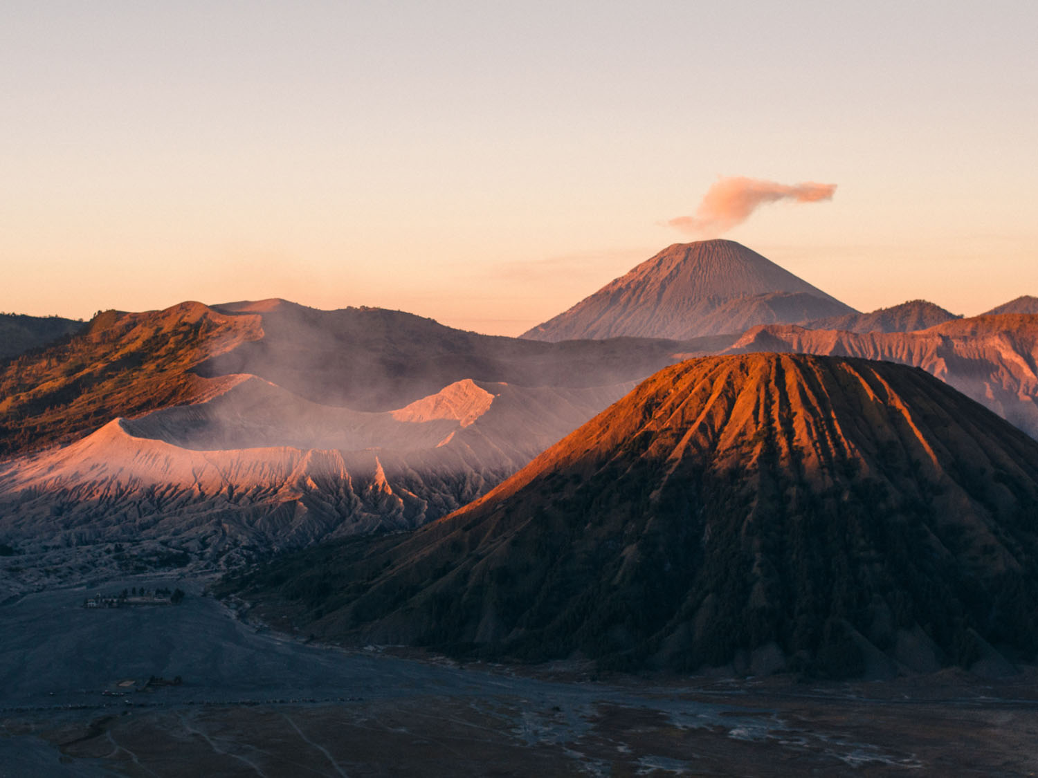 volcano at sunset - 7 Tips to Make Travel Photography Interesting Again