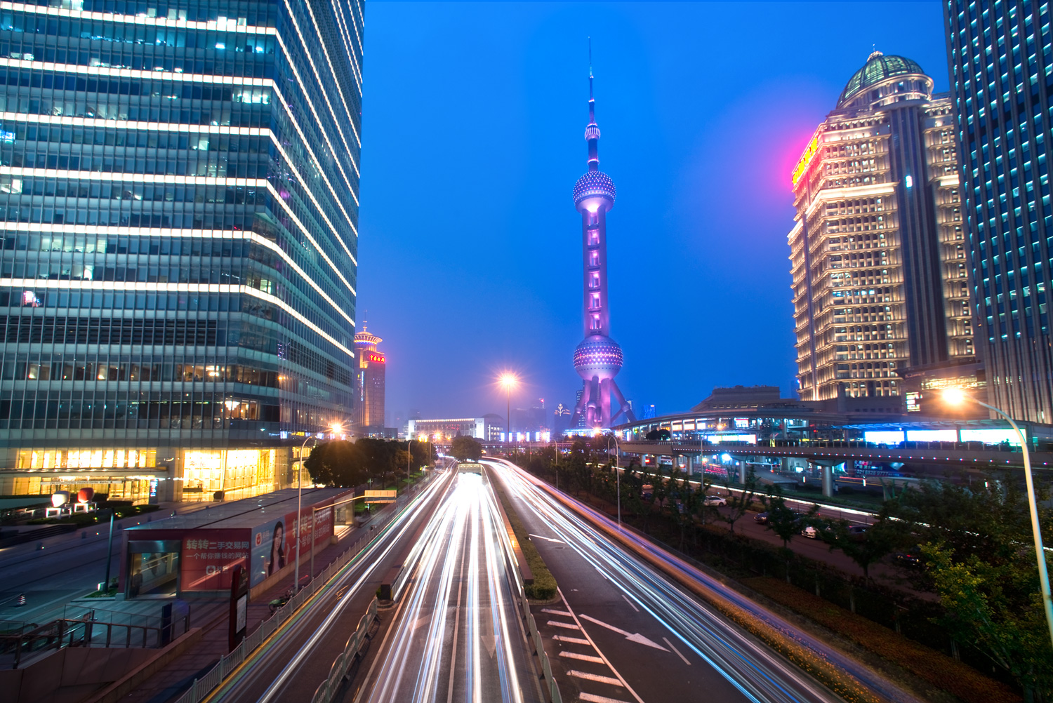 Shanghai skyline - Using Neutral Density Filters for Cityscape Photography at Blue Hour